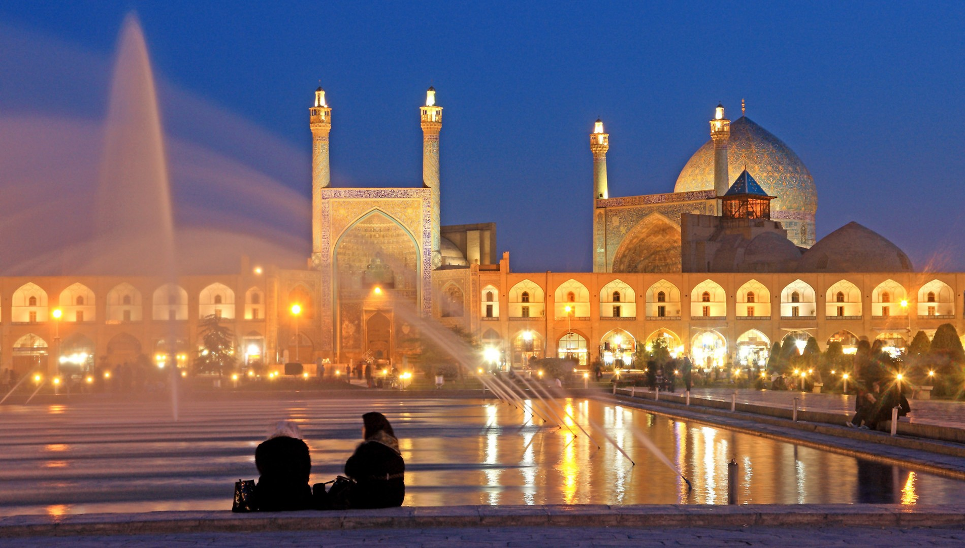 # 2 Jameh Abassi (Royal) Mosque inside Naghsh-e Jahan Sq in Esfahan